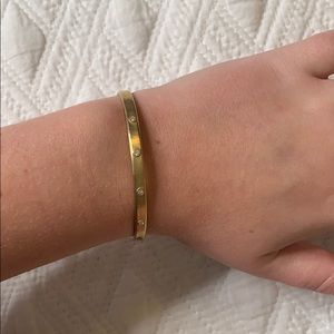 Stella & dot gold diamond bracelet